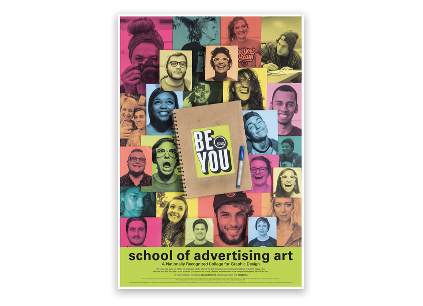 2016 Classroom Poster Creative Directors: Matt Flick, Jessica Barry by School of Advertising Art (SAA)