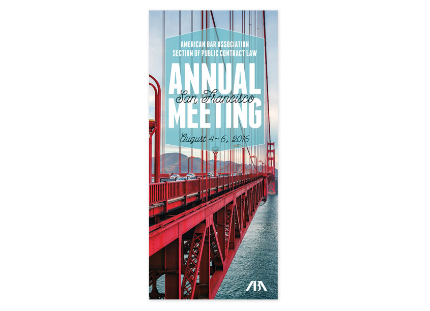 2016 Public Contract Annual Meeting Brochure by American Bar Association