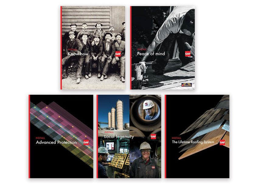 GAF Pitch Kit Box & Brochures by GAF