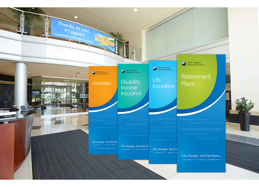 SBU Portable Banners by Ohio National Financial Services