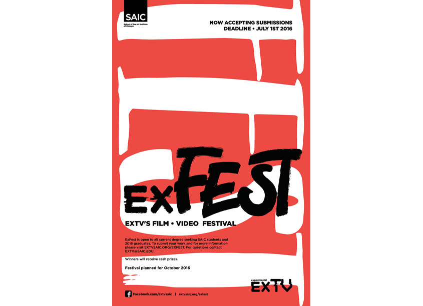 SAIC EXTV ExFest Poster by School of the Art Institute Chicago (SAIC), IRFM Creative