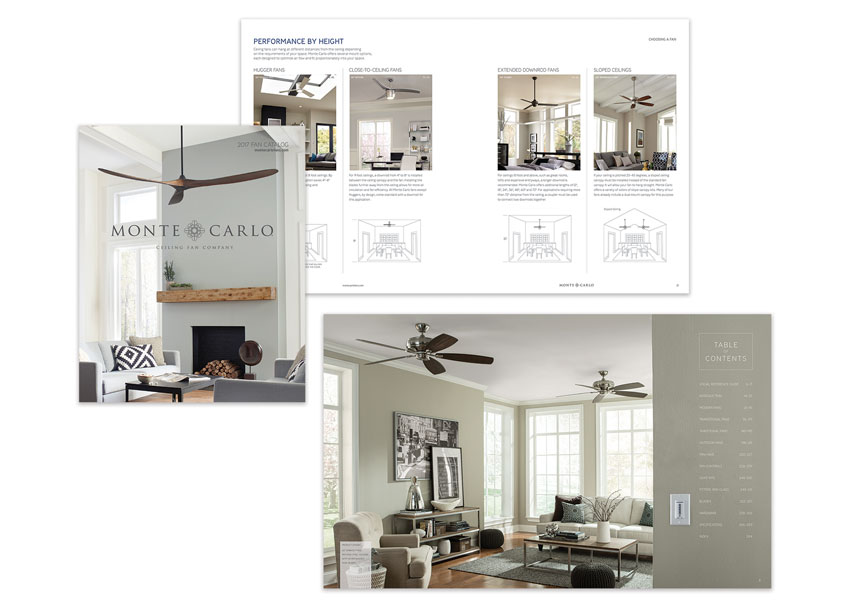 Monte Carlo Ceiling Fans Full Line Catalog by Generation Brands