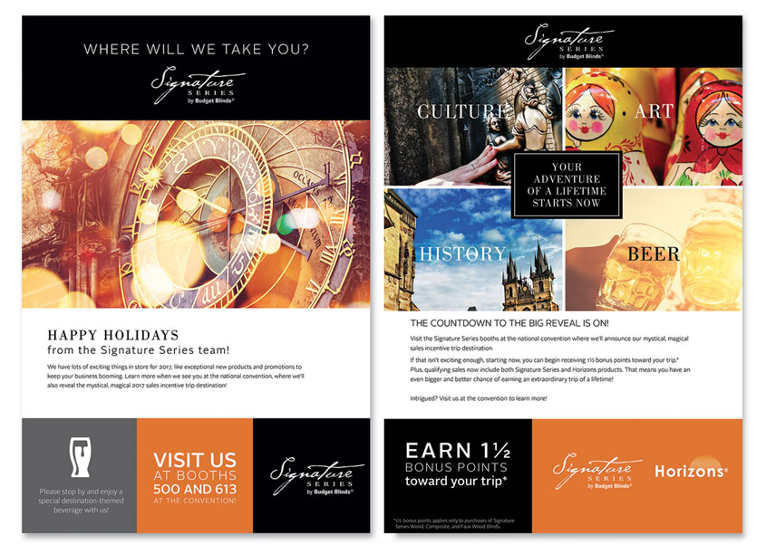 Signature Series Incentive Trip Email Blast by Springs Window Fashions