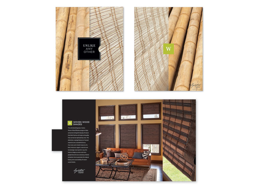 Signature Series Woven Wood Shades Launch Kit by Springs Window Fashions