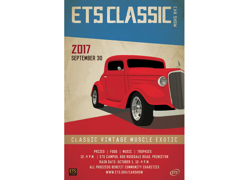 ETS Classic Car Show Poster by ETS