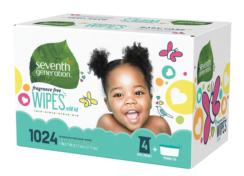 Seventh Generation Baby Wipes Packaging by Seventh Generation