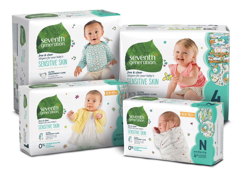Seventh Generation Diaper Packaging by Seventh Generation