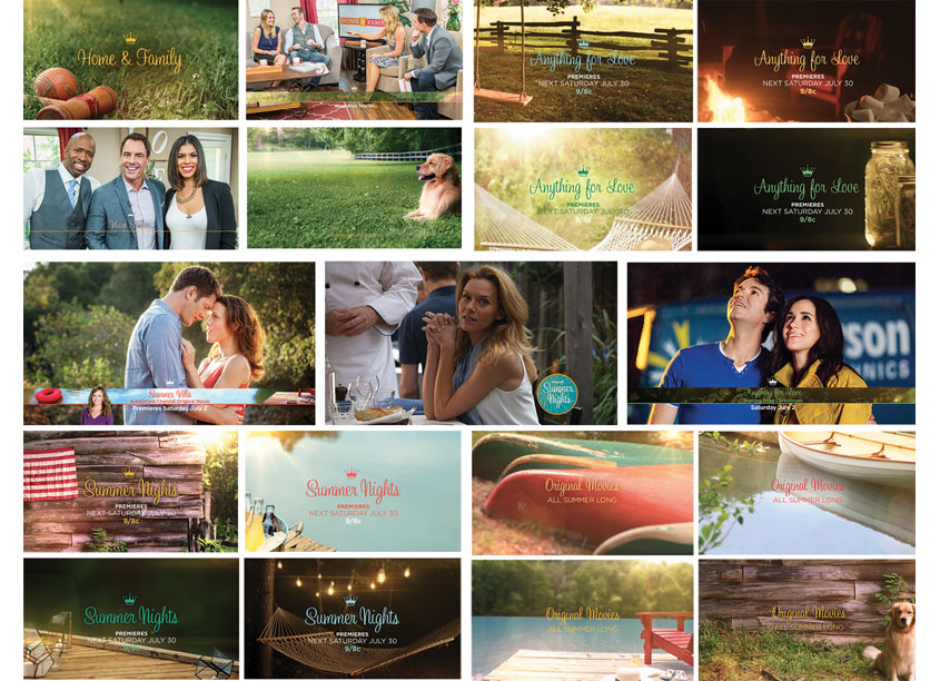 Hallmark Channel's Summer Nights On-Air Promotion Graphics by Crown Media Family Networks