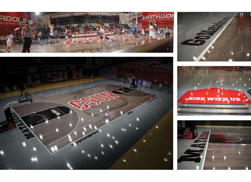 The Blacktop @ The Matadome 2.0 Environmental Graphics/ Court Design by CSUN Athletics