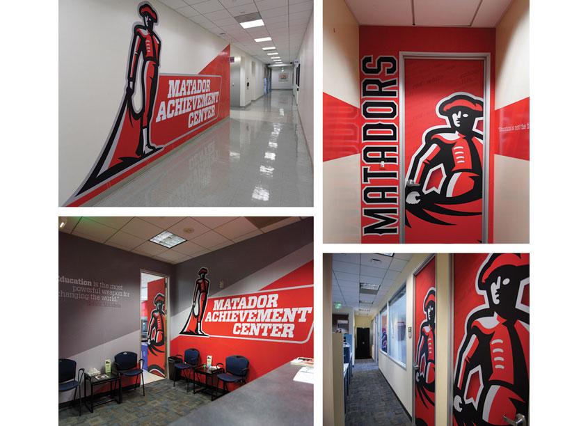Matador Achievement Center Environmental Graphics by CSUN Athletics