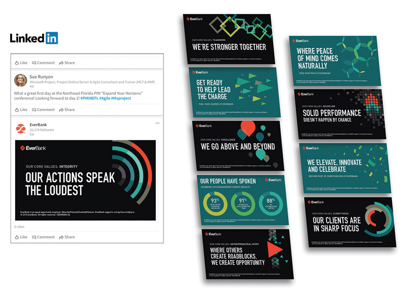 Recruiters LinkedIn Graphics by EverBank
