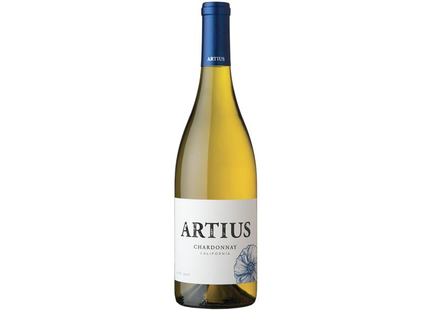 Artius Chardonnay Label Design by Fetzer Vineyards