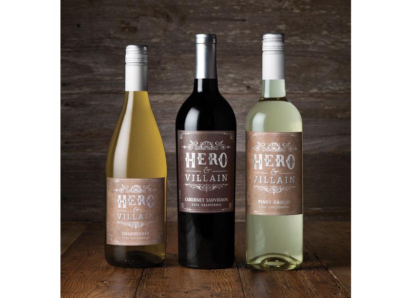 Hero & Villian Wine Label Design by Fetzer Vineyards