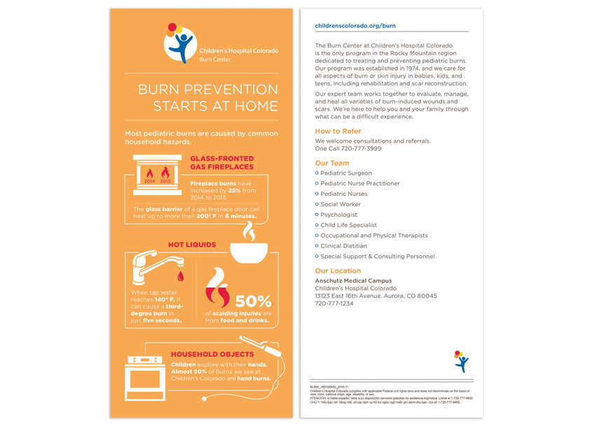Burn Prevention Infographic by Children's Hospital Colorado