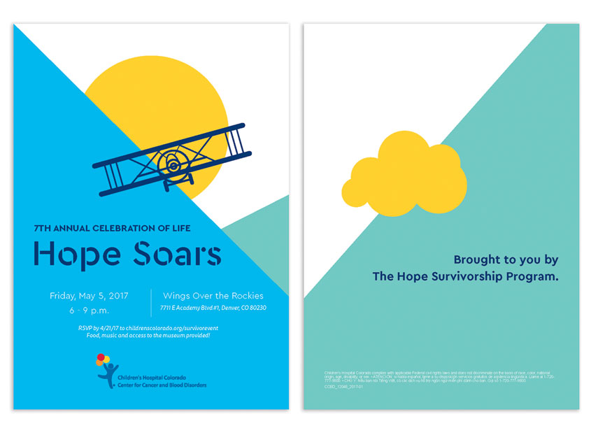 Hope Soars Invitation by Children's Hospital Colorado