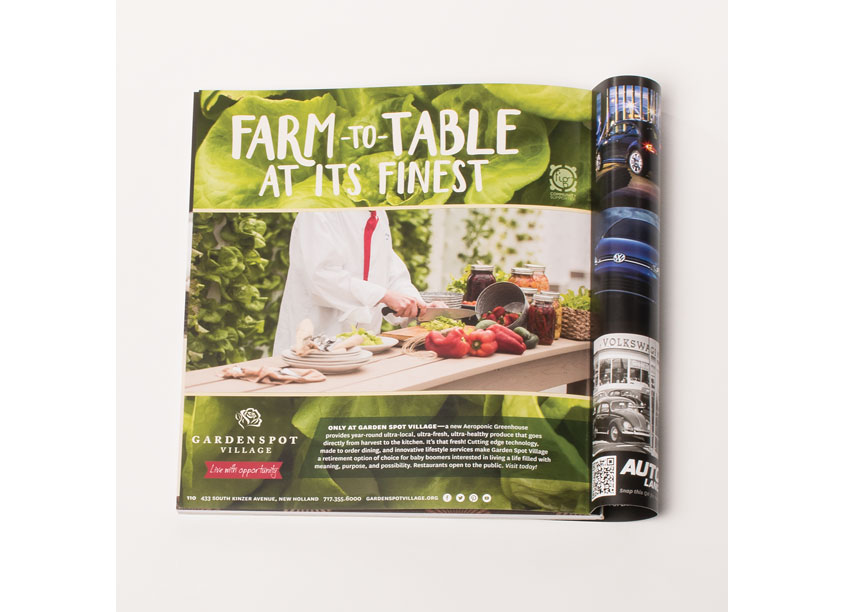 Farm-to-Table Advertisement by Garden Spot Village
