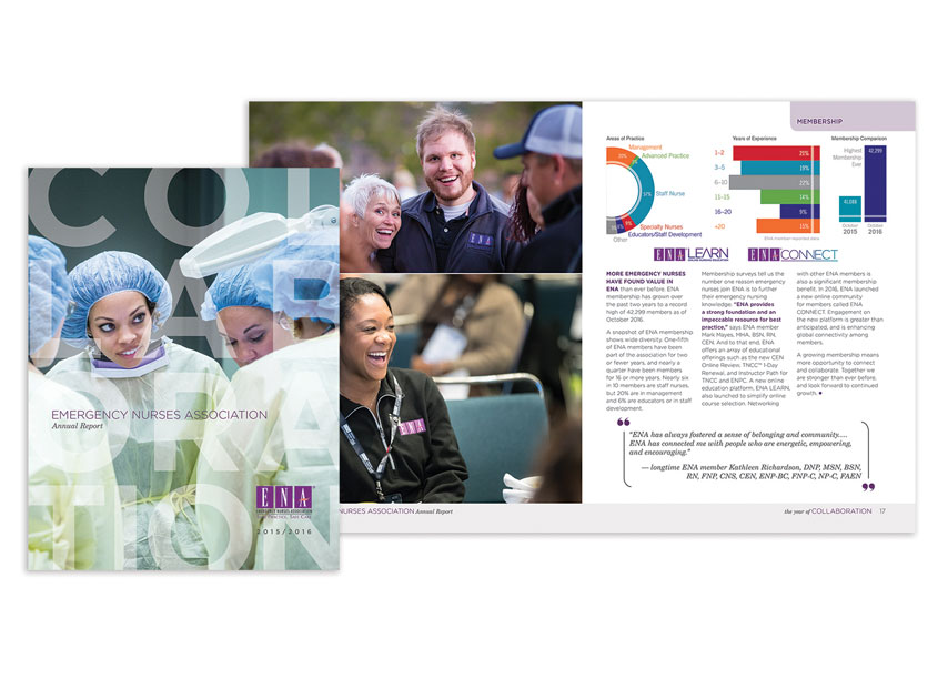 2015/16 Annual Report: The Year of Collaboration by Emergency Nurses Association