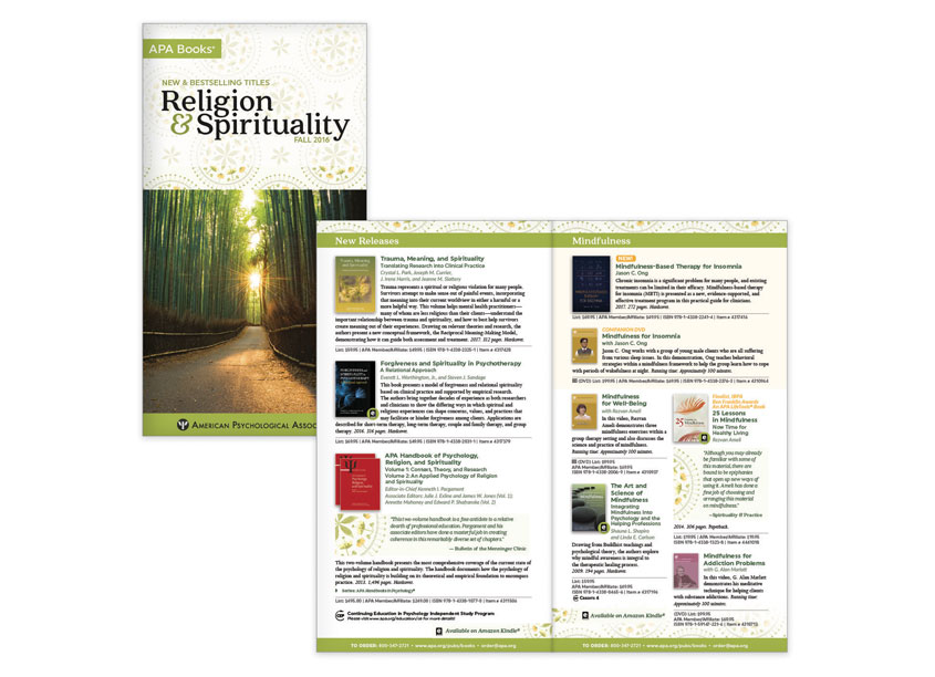 Religion & Spirituality FA16 by American Psychological Association (APA)