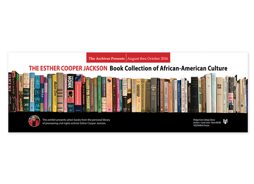 Esther Cooper Book Collection of African American Culture Poster by Medgar Evers College Library, CUNY