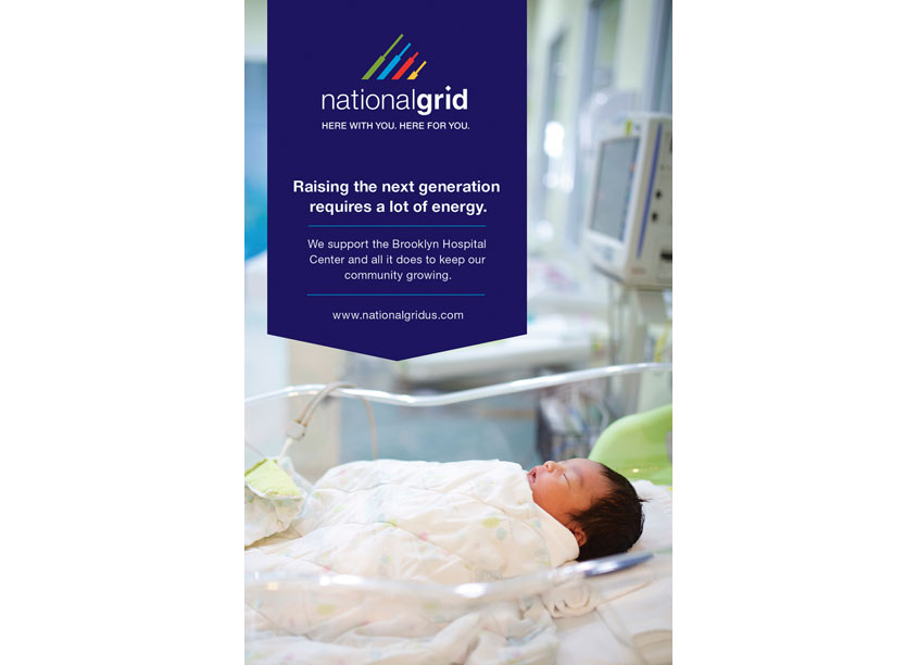 Advertisement Supporting Brooklyn Hospital by National Grid