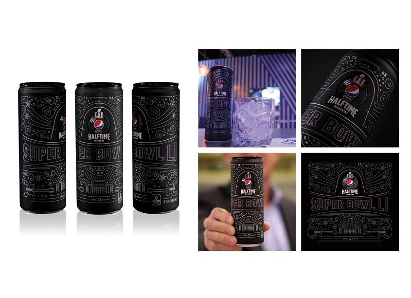 Pepsi Limited Edition Commemorative Super Bowl LI Can by PepsiCo Design & Innovation