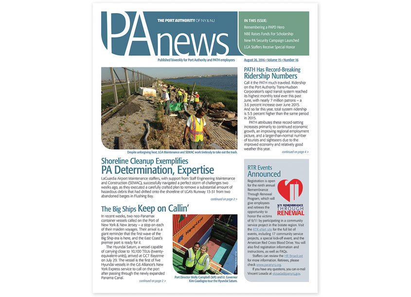 PA News by The Port Authority of NY & NJ - Creative Services