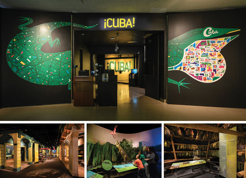 CUBA Exhibition Graphics by American Museum of Natural History