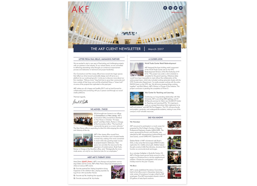 AKF Group Client Newsletter by AKF Group