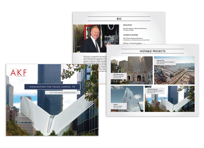 Award Submission - ACEC NY Engineer of the Year by AKF Group