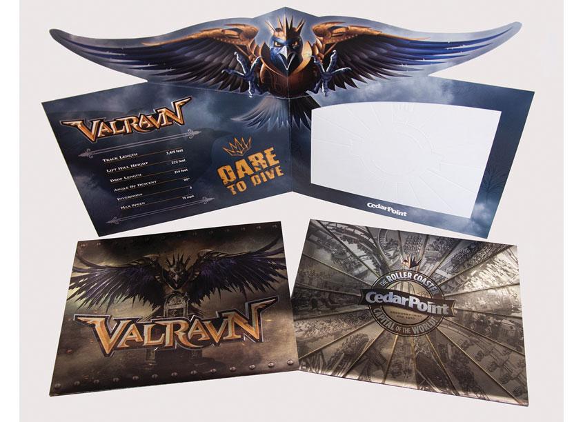 Cedar Point Valravn Photo Folder by Cedar Fair Entertainment Company