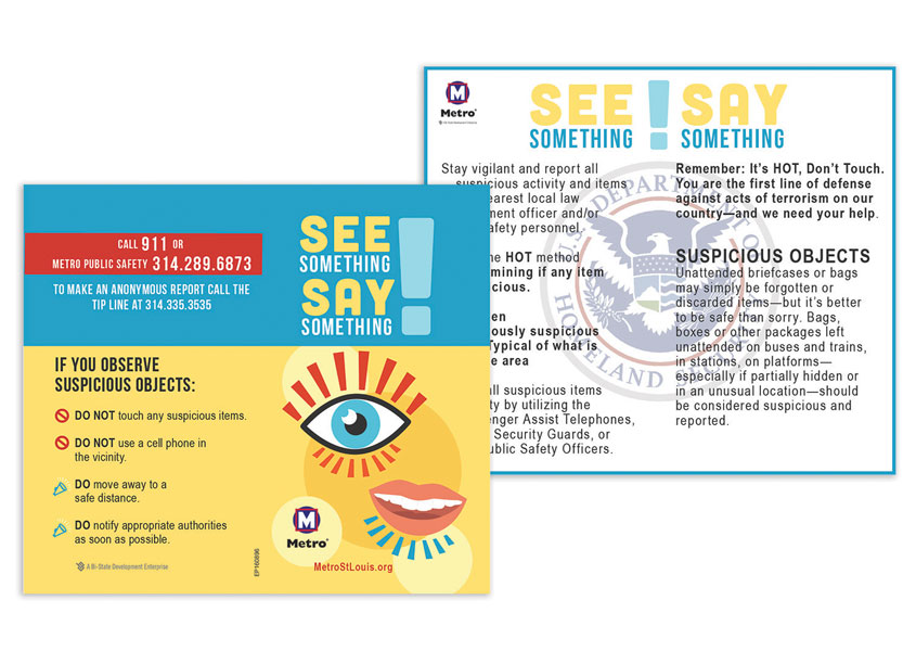 See Something Say Something Business Card by Bi-State Development
