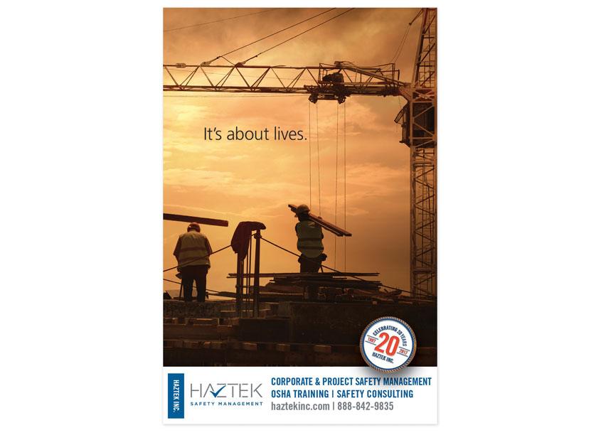 It's About Lives Print Advertisement by HazTek Inc. Marketing + Design Department