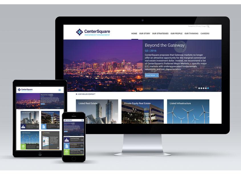 CenterSquare Corporate Website by BNY Mellon AMT Creative Services