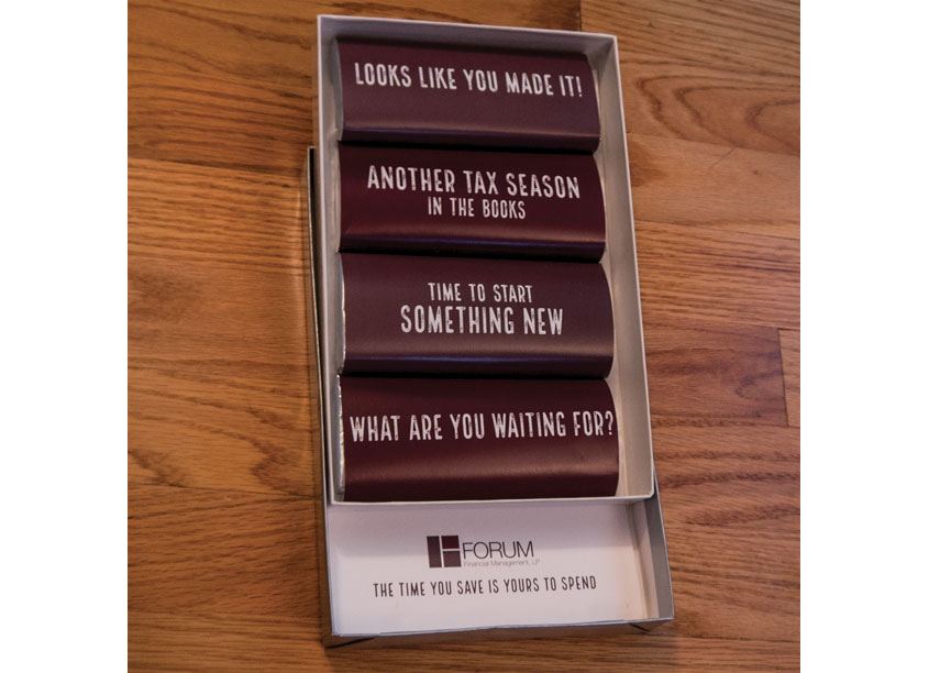 Looks Like You Made It! Post-Tax-Season Celebration Mailing by Forum Financial Management