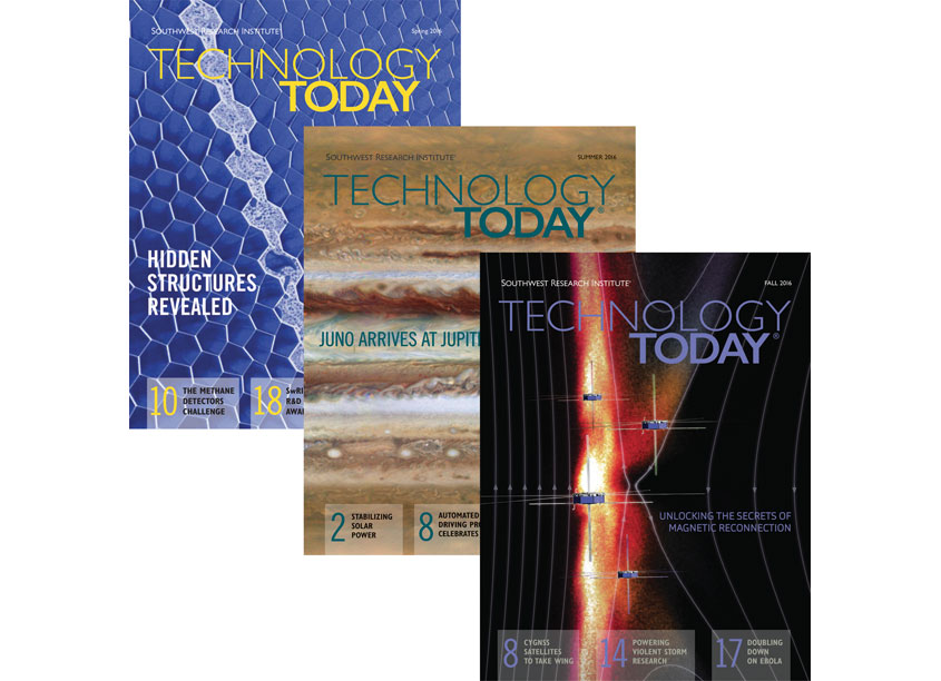 Technology Today - Spring/Summer/Fall Editions 2016 by Southwest Research Institute