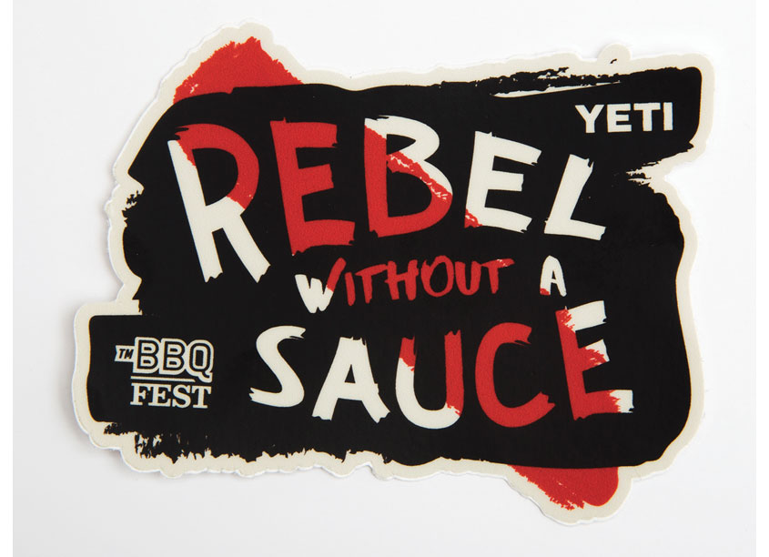 Rebel Without A Sauce Swag Sticker by YETI