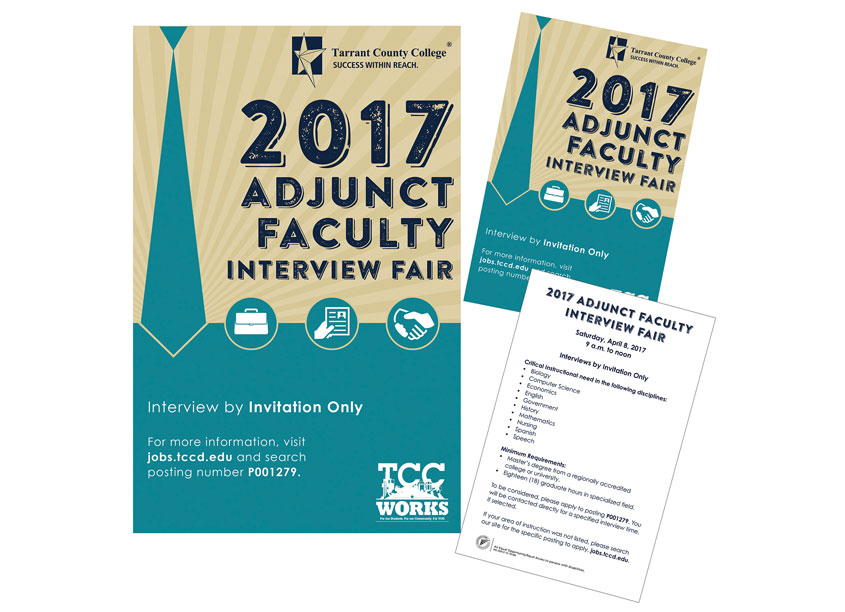 Adjunct Fair Invitation by Tarrant County College District/Graphic Services