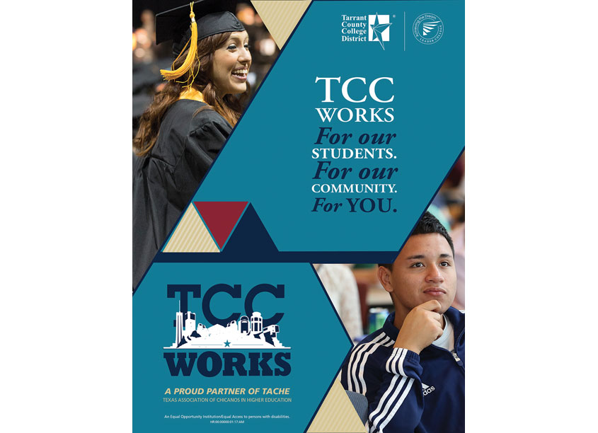 TCC's TACHE Conference Program Advertisement by Tarrant County College District/Graphic Services