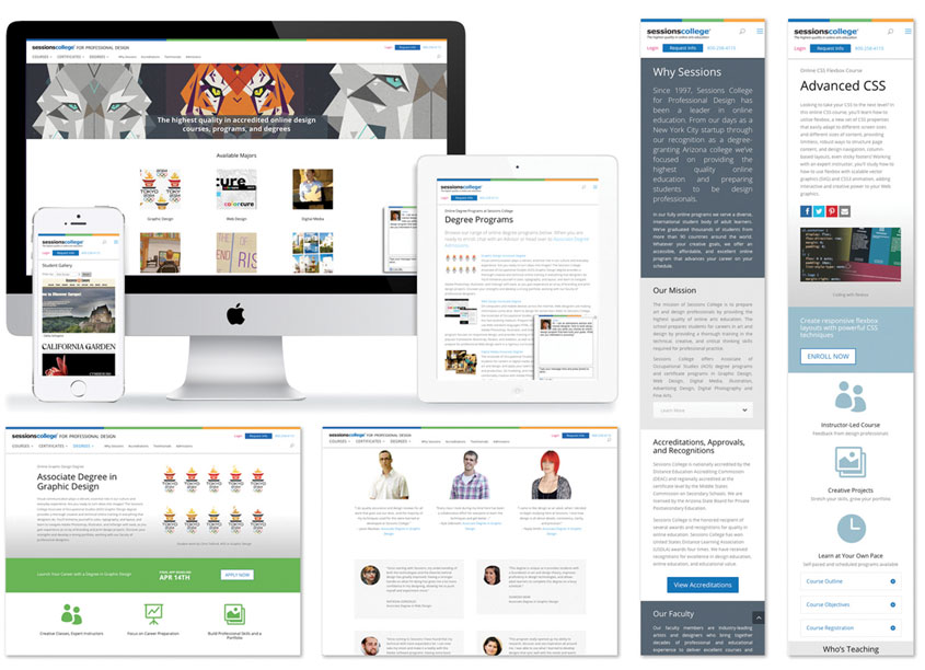 Sessions Website Redesign by Sessions College for Professional Design