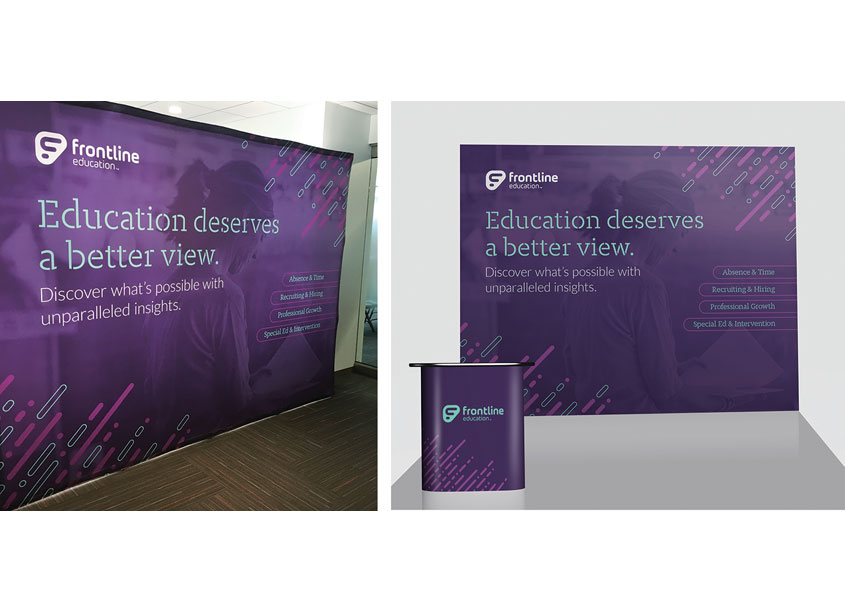 Frontline 10ft Tradeshow Backdrop by Frontline Education