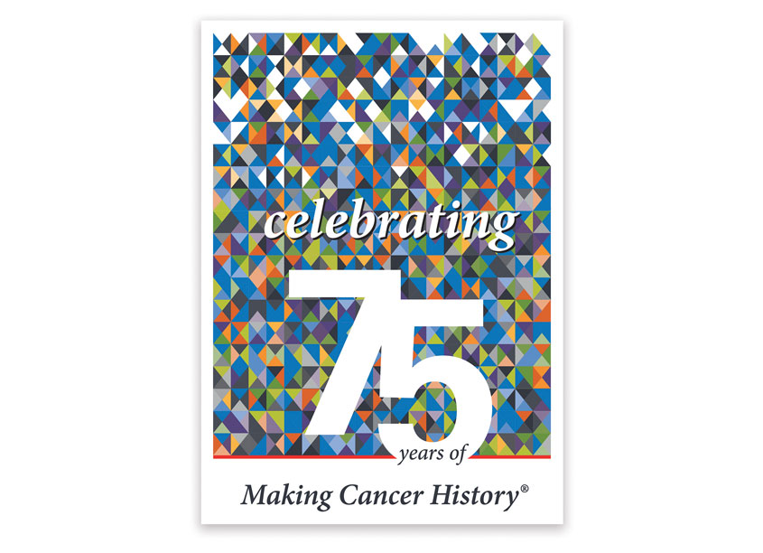 Celebrating 75 Years of Making Cancer History Logo by MD Anderson Cancer Center