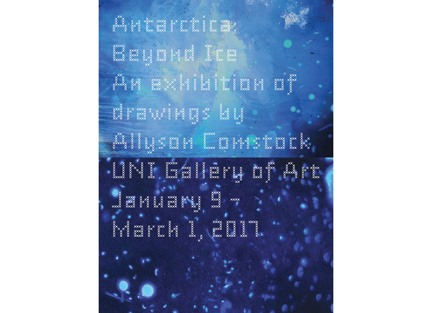Allyson Comstock Exhibition Invitation by University of Northern Iowa Gallery of Art