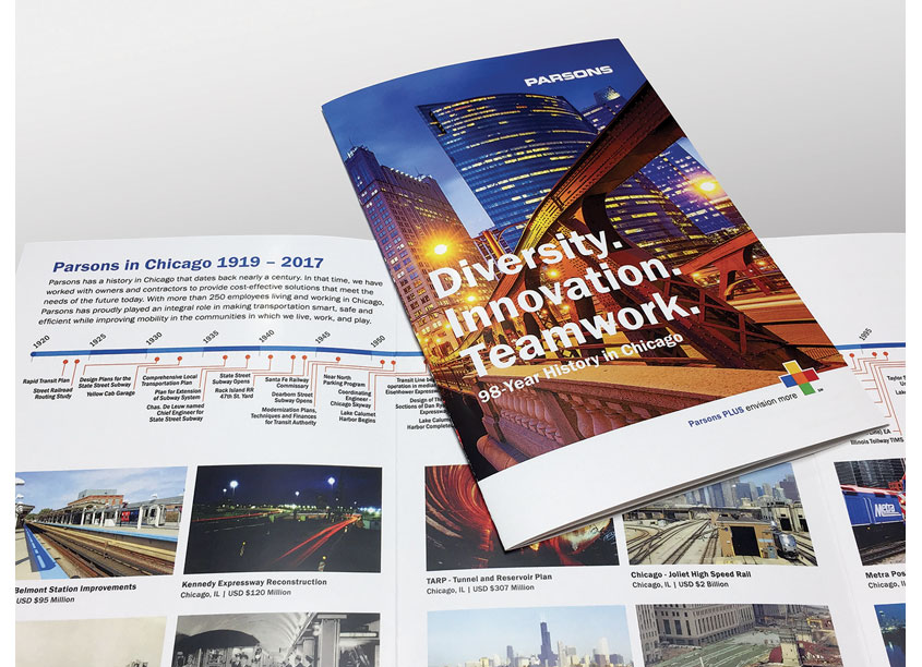 Parsons' History in Chicago Brochure by Parsons Corporation