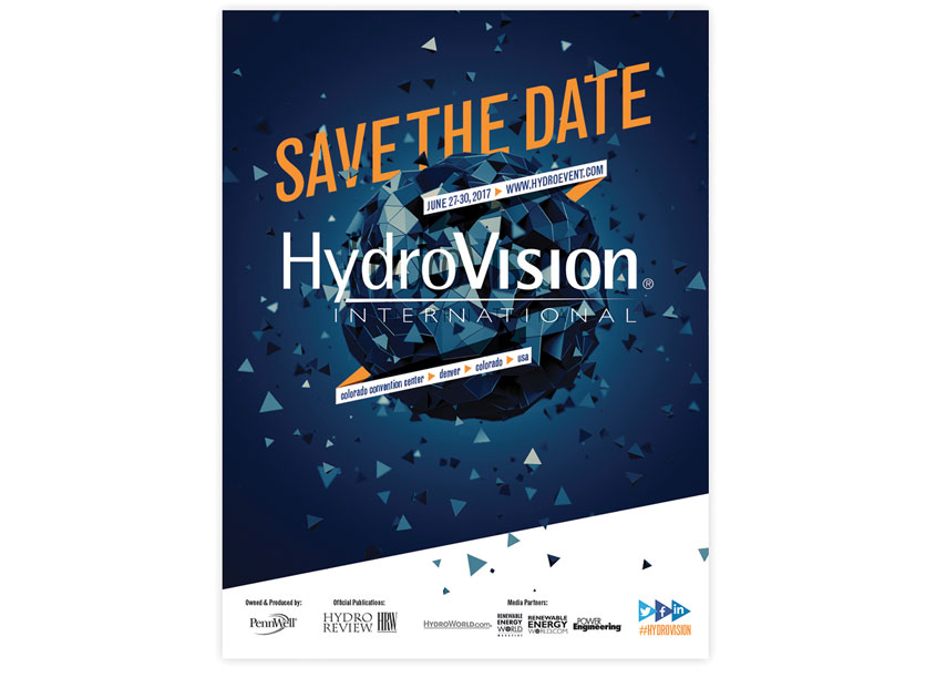 HydroVision Save The Date Ad by PennWell Corporation
