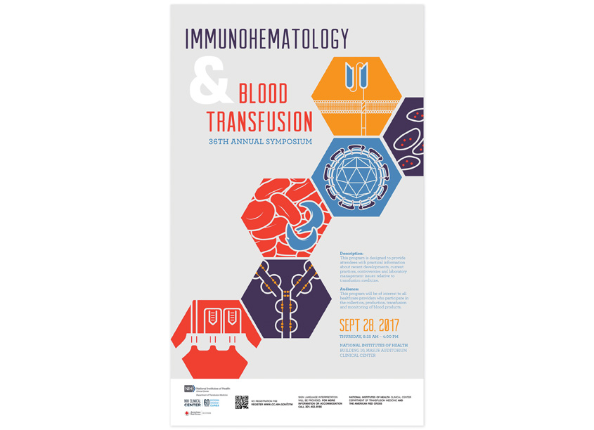 NIH Medical Arts Branch Immunohematology & Blood Transfusion 2017 Symposium Poster
