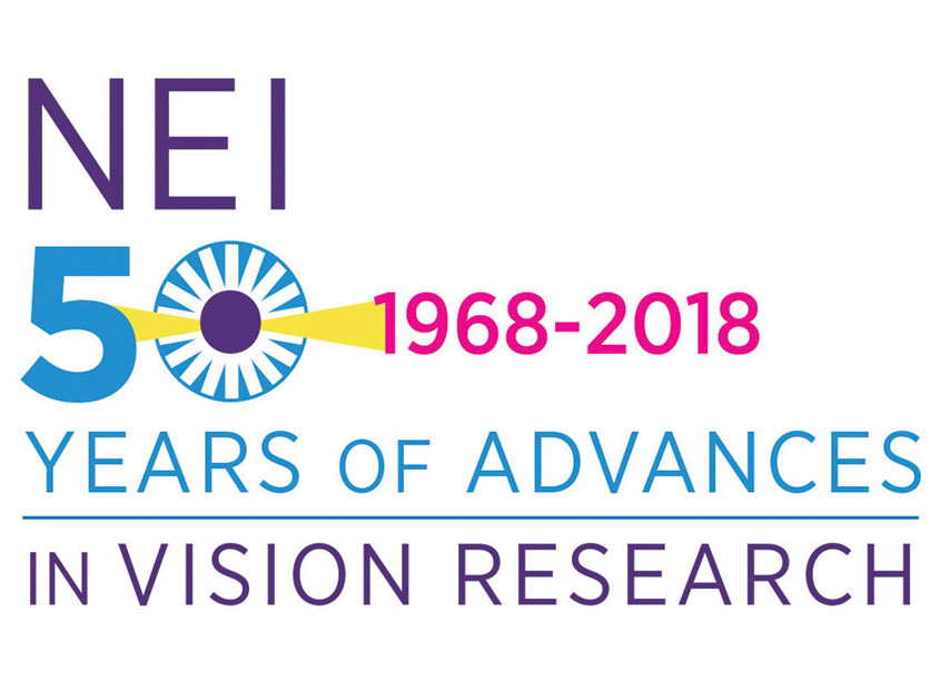 NIH Medical Arts Branch National Eye Institute 50th Anniversary Logo