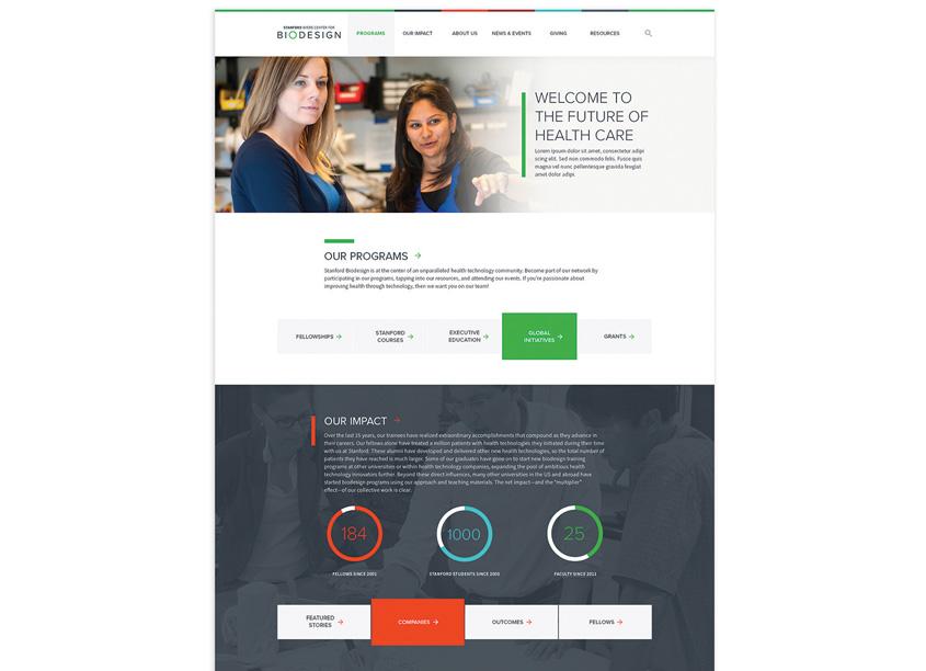 Contrast DesignWorks Stanford Biodesign Website