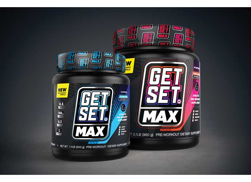 m0dm0d Get Set Max Sports Nutrition Packaging