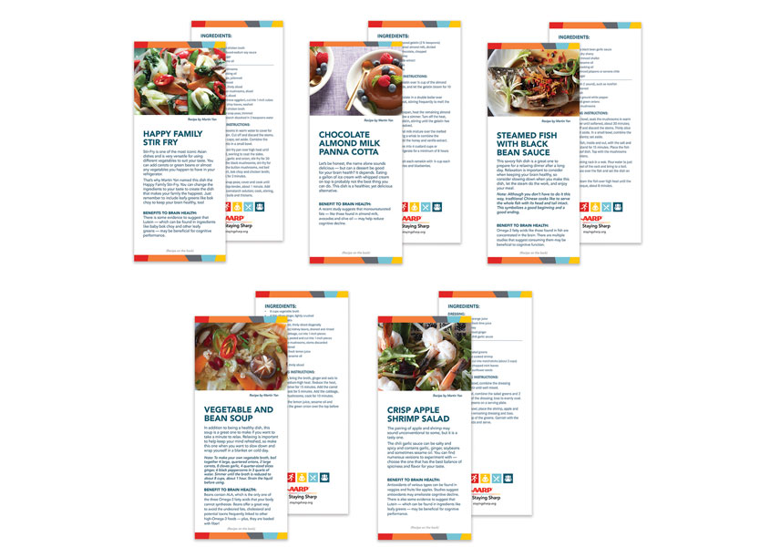 AARP AARP Staying Sharp Recipe Cards