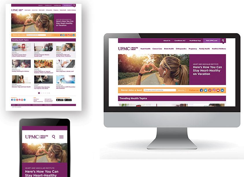 Garrison Hughes Inc. UPMC Health Beat Blog Design